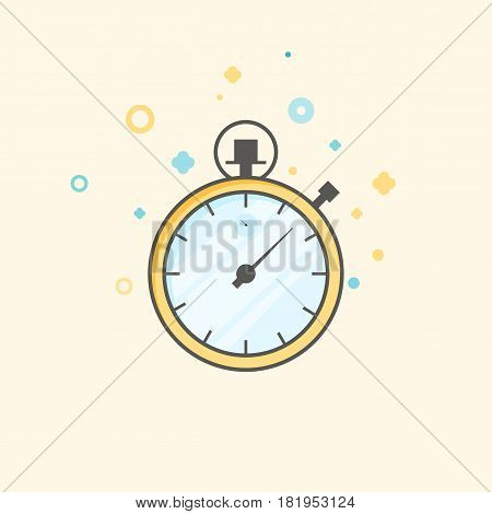 Timer icon vector. Waiting, Time and Clock concept. Flat style color icon. Business and management.