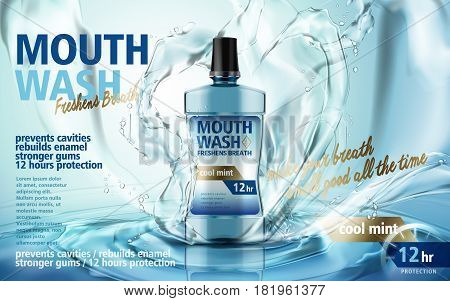 Mouthwash Product Ad