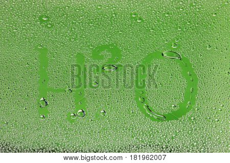 Background Drops On The Glass