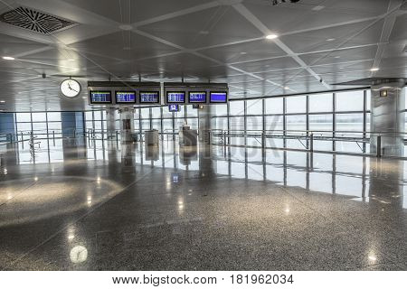 Departure Hall In Madrid