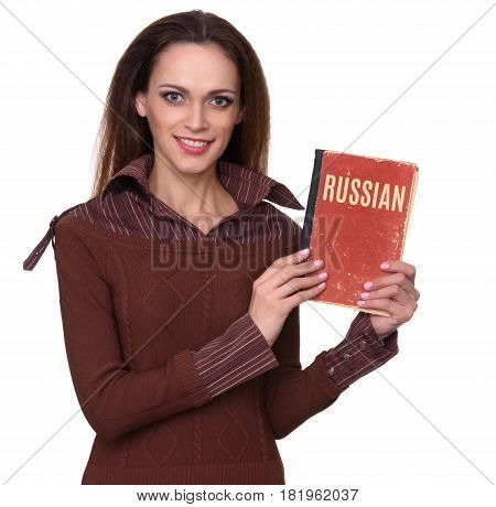 Russian Courses Concept