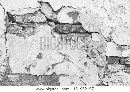 Grunge White Brick Wall Texture