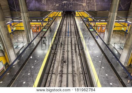 Subway In Madrid