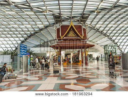 Departure Gate And Hall In The New Airport Suvarnabhumi