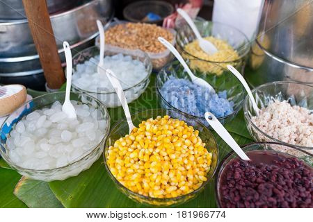 Thai Style ice cream topping