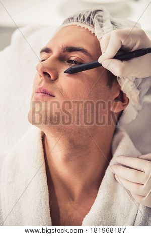 Man At The Beautician