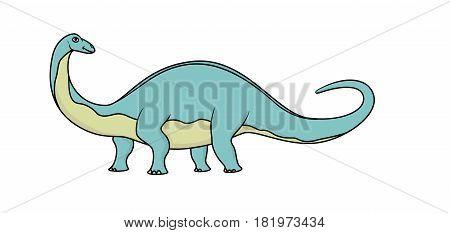 Cartoon brontosaurus isolated on a white background