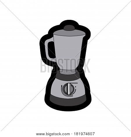 monochrome thick contour of kitchen blender vector illustration