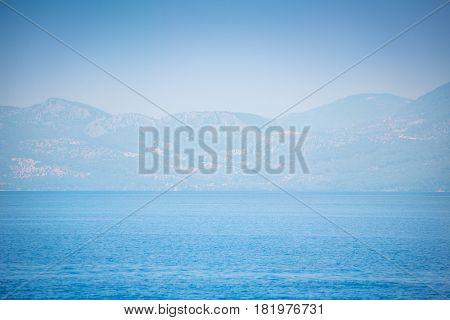 Aegean sea islands with mountains near Marmaris. Turkey