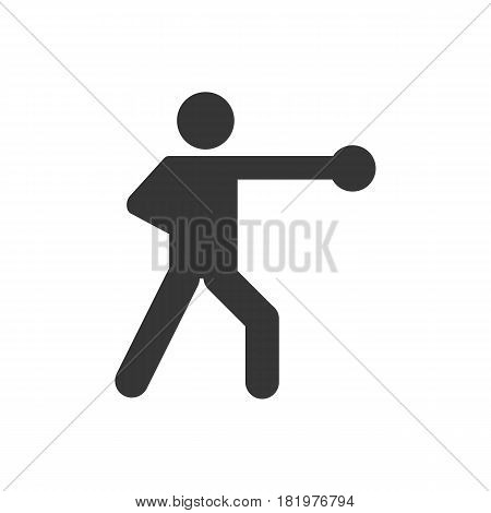 boxing icon on the white background. Vector llustration