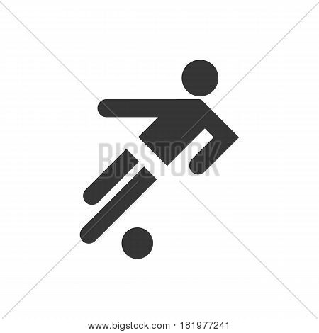 football icon on the white background. Vector llustration
