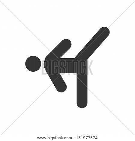 kickboxing icon on the white background. Vector llustration