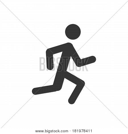 running man on the white background. Vector llustration