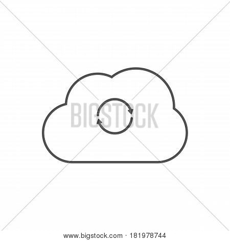 synchronization cloud on the white background. Vector illustration