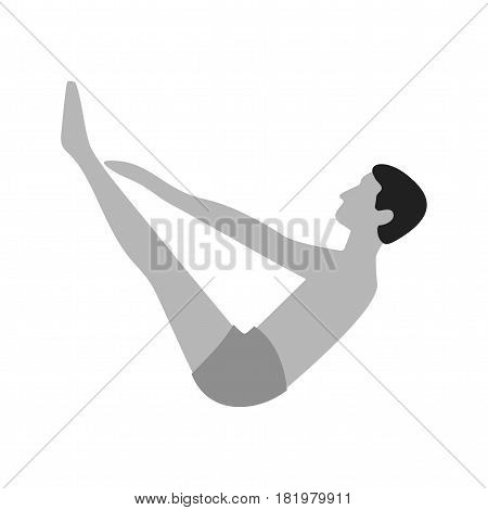 Yoga, pose, toes icon vector image. Can also be used for yoga poses. Suitable for mobile apps, web apps and print media.