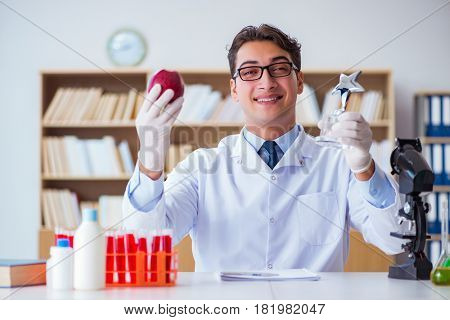 Doctor scientist receiving prize for his research discovery