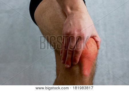 Knee pain,joint pains people medical background man