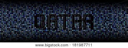 Qatar text on hex code illustration