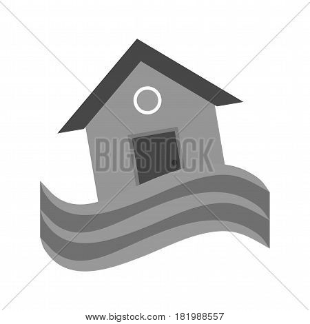 House, flood, water icon vector image. Can also be used for disasters. Suitable for mobile apps, web apps and print media.