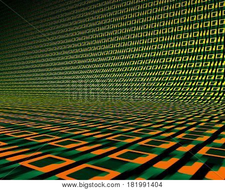 Background of digits zero and one. 3D illustration