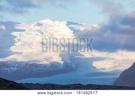 Fjallsarlon Glacial Lagoon of Vatnajokull Glacier Iceland