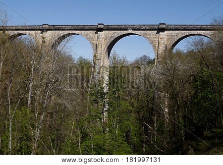 Viaduct at Culan in central rural France