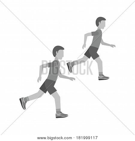 Sprint, athletics, running icon vector image. Can also be used for olympics. Suitable for mobile apps, web apps and print media.