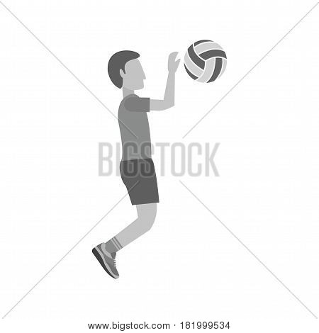 Ball, volleyball, indoor icon vector image. Can also be used for olympics. Suitable for mobile apps, web apps and print media.