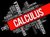 Calculus word cloud collage education concept background poster