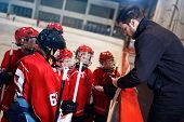 tactics coach in game hockey in ice matches poster