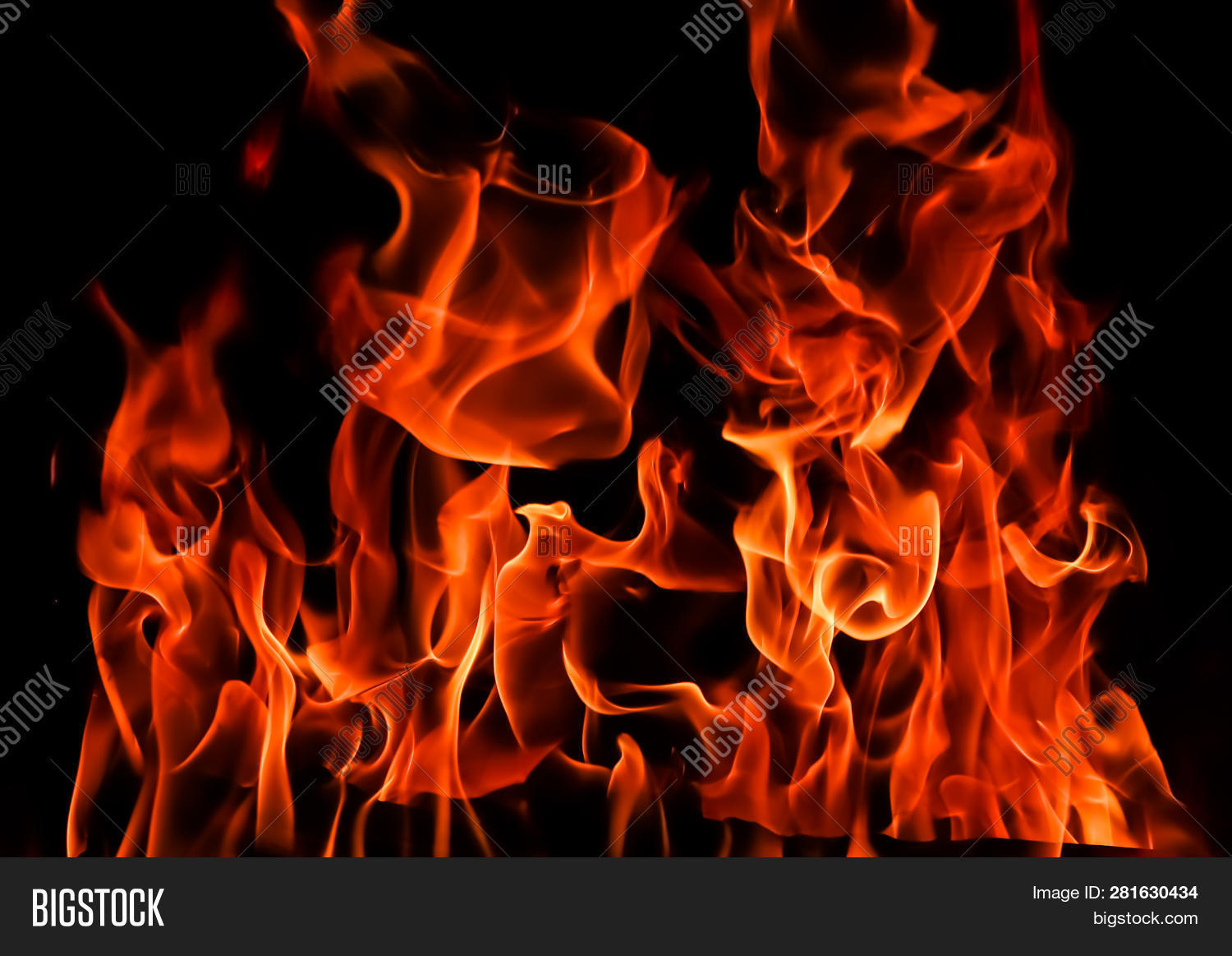 Flames Fire On Black Image Photo Free Trial Bigstock