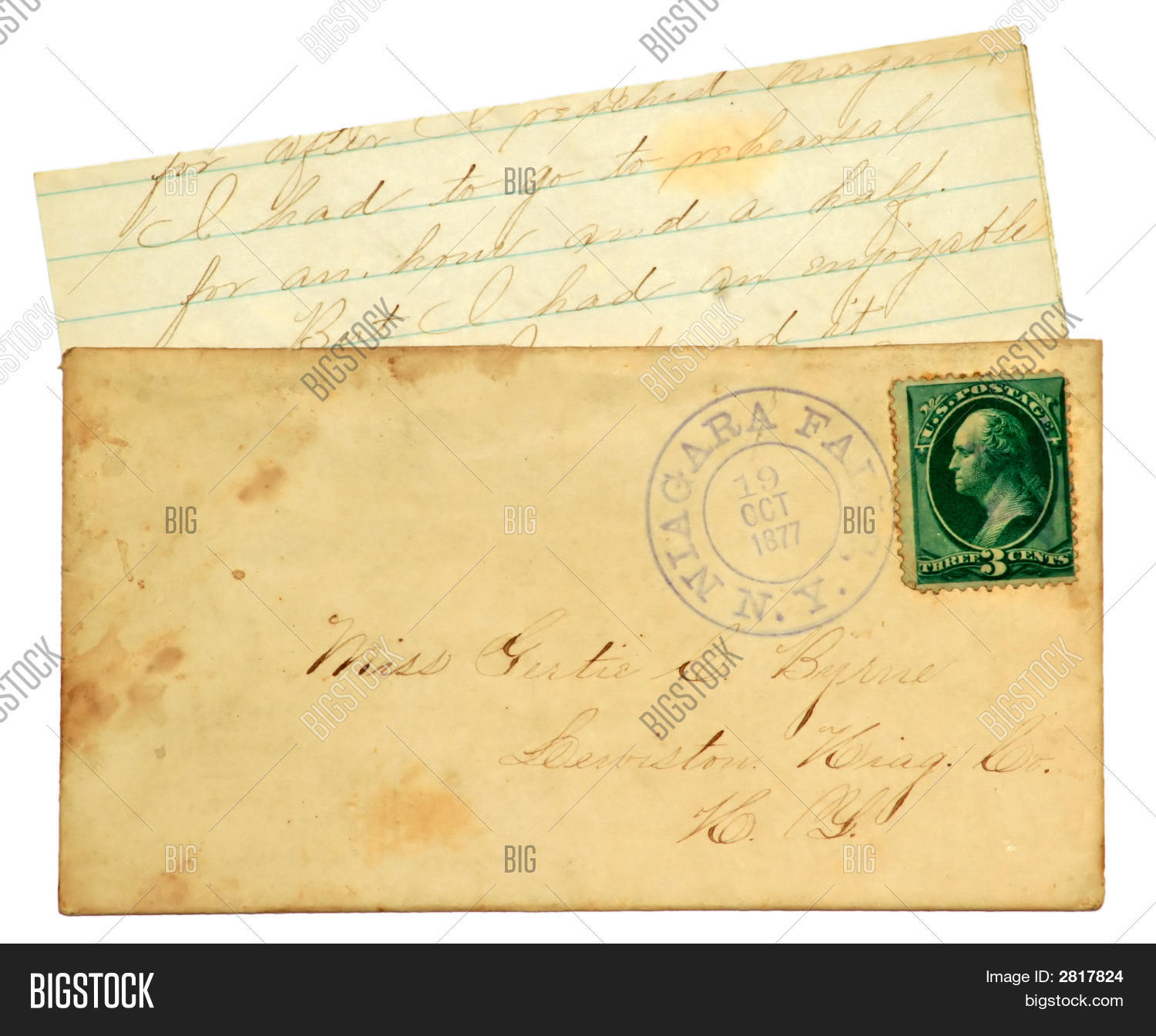 old letter envelope image photo free trial bigstock