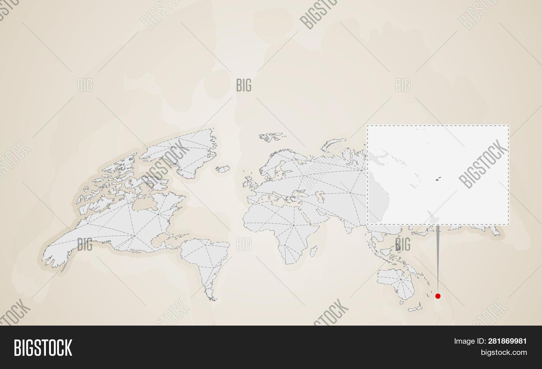 Map Fiji Neighbor Vector & Photo (Free Trial) | Bigstock