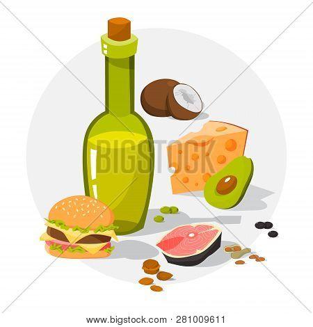 Fat Food. Cheese And Junk Food, Avocado