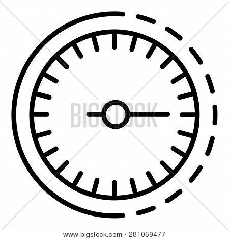 Odometer Icon. Outline Odometer Vector Icon For Web Design Isolated On White Background