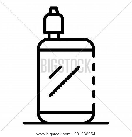 Portable Vape Icon. Outline Portable Vape Vector Icon For Web Design Isolated On White Background
