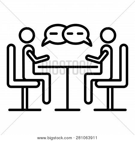 Business Negotiation Icon. Outline Business Negotiation Vector Icon For Web Design Isolated On White