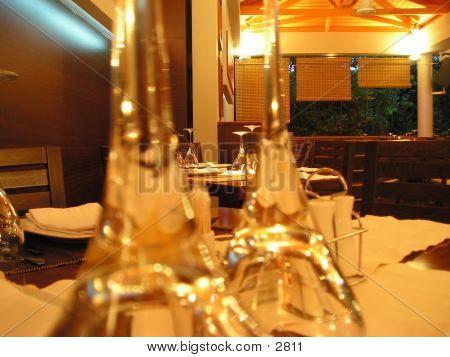 Restaurant Through Glass