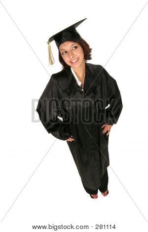 Girl In Cap And Gown