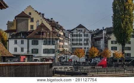 Historic City Center Of Lucerne, Switzerland