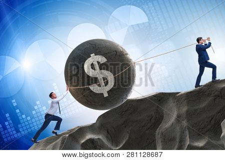 Trader trading in american dollar
