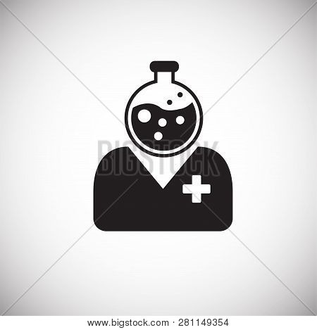 Medical Personnel On White Background Icon For App Or Web Using
