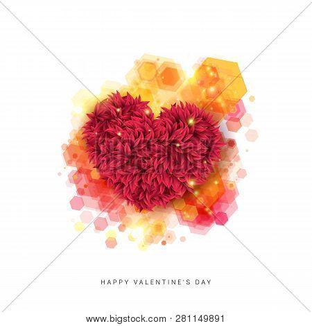 Sentimental Happy Valentines Day Card. Vector Illustration.