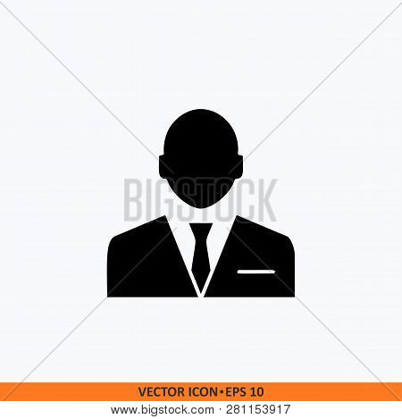 Manager Icon Sign Vector. Web Office Illustration. Solid Black On White Background.