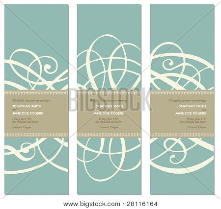Vector Pastel Tall Ornament Frame Set. Easy to edit. Perfect for invitations or announcements. poster