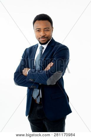 Attractive Confident Happy And Successful Ceo Business Man Corporate Executive Isolated In White