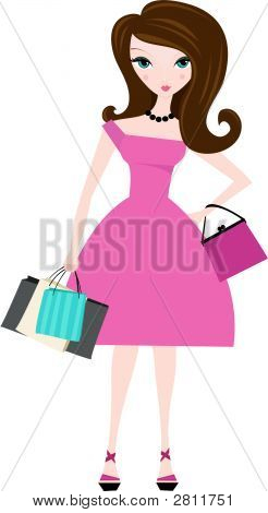Mujer con bolsas