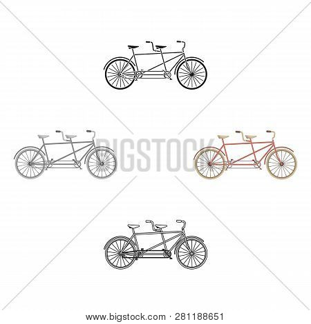 Tandem Bike.pleasure Bicycle For Two. Double Bicycle. The Ecological Mode Of Transport.different Bic