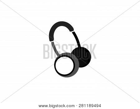 Headphones Or Headset For Logo Design Illustration