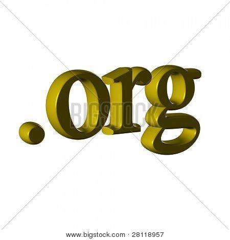 Gold org symbol.